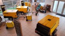 100 Maschinen / Strahlgeräte sofort verfügbar